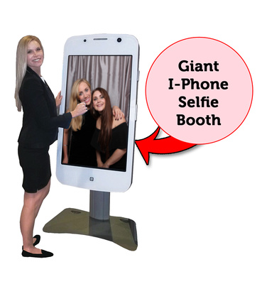Giant iPhone photo booth